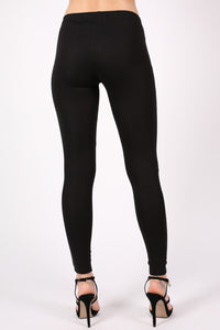 4 Zip Detail Leggings in Black 4