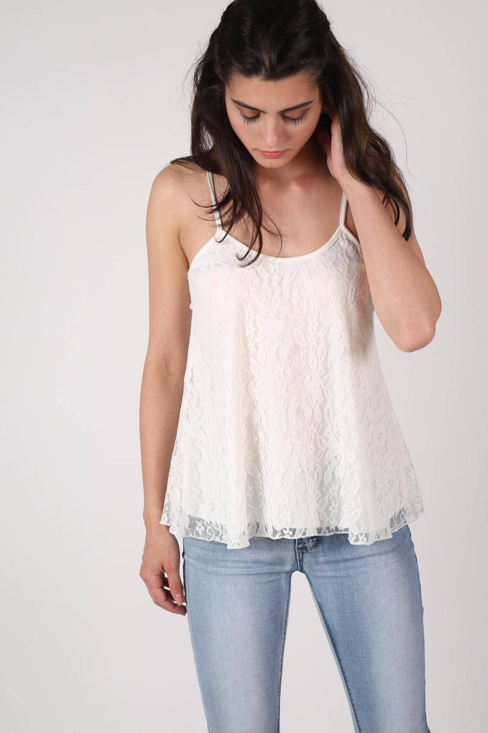 Lace Swing Camisole Top in Cream 0