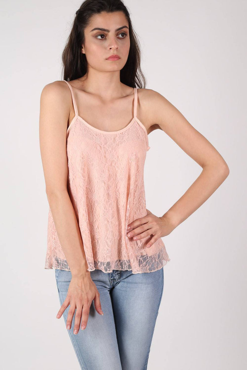 Lace Swing Camisole Top in Nude 1