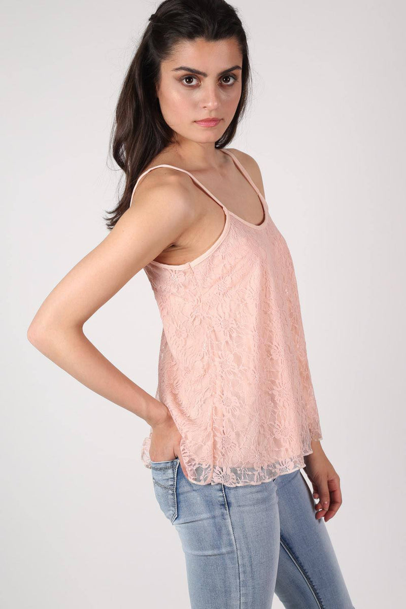 Lace Swing Camisole Top in Nude 2
