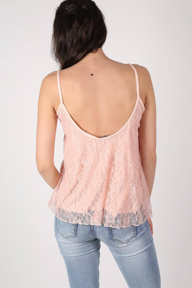 Lace Swing Camisole Top in Nude 3