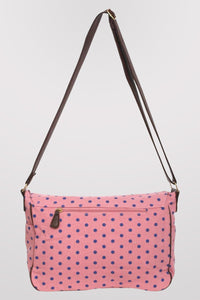 Spotty Satchel in Pink BACK