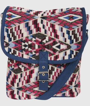 Tribal Cross Body Messenger Bag in Pink 2