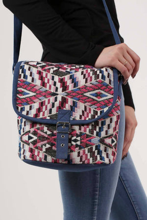 Tribal Cross Body Messenger Bag in Pink 1