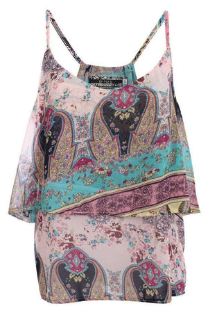 Double Layer Multi Print Cami Top 2
