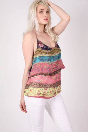 Double Layer Multi Print Cami Top 0