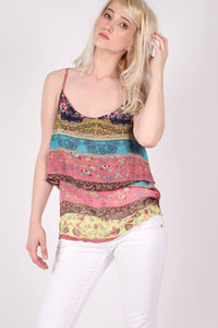 Double Layer Multi Print Cami Top 1