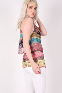 Double Layer Multi Print Cami Top 3