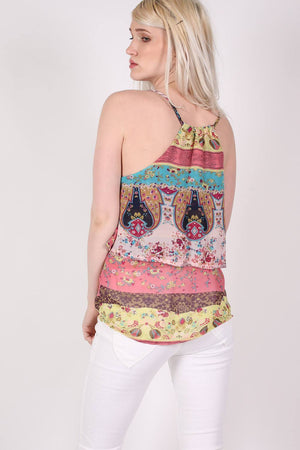 Double Layer Multi Print Cami Top 4