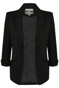 Open Front Blazer in Black 2