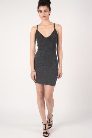 Strappy Lurex Bodycon Dress 0