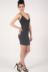 Strappy Lurex Bodycon Dress 3