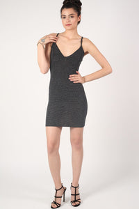 Strappy Lurex Bodycon Dress 4
