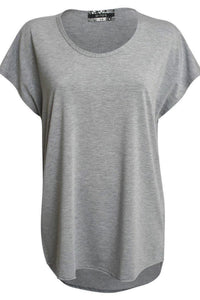 Oversized High Low Hem Top in Grey 2
