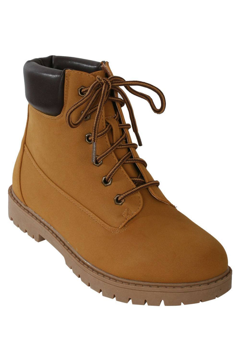 Lace Up Chukka Boots in Mustard Yellow 2