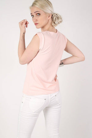Fluted Cap Sleeve Top in Pale Pink 3