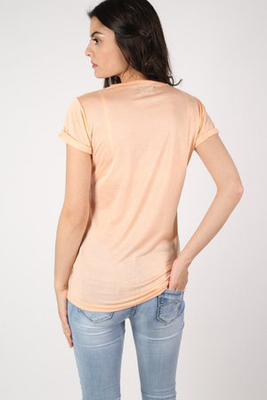 Well Dressed Slogan T-Shirt in Nude 4