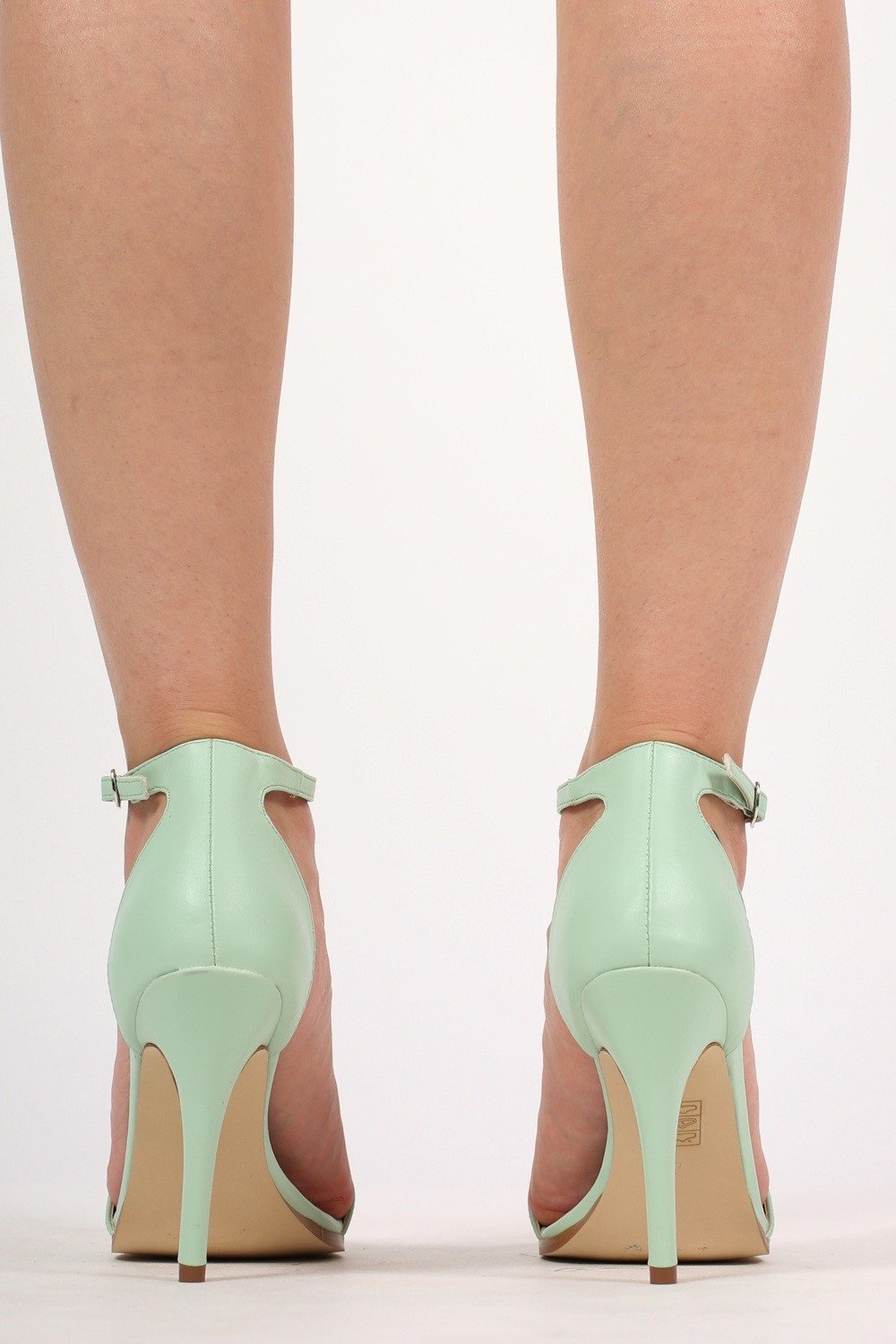 8638095cdc5a Maya Barely There Strappy High Heel Sandals in Mint Green MODEL BACK