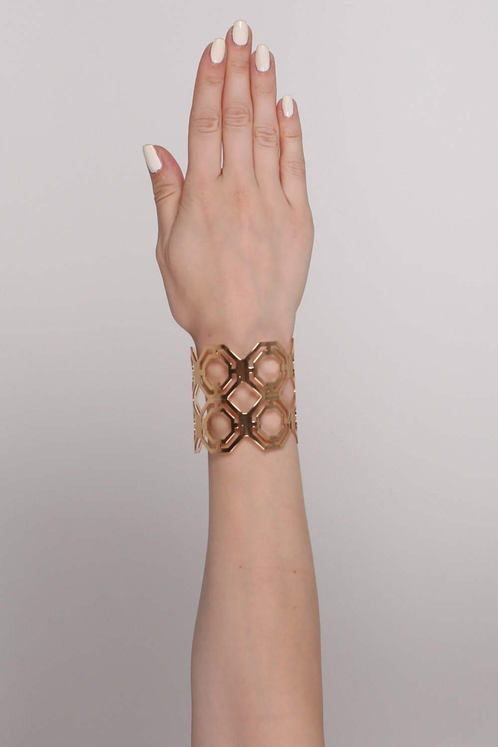 Geometric Cut Out Cuff Bracelet in Gold 0
