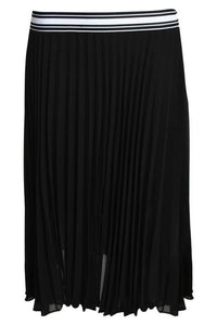 Pleated Midi Skirt in Black 2