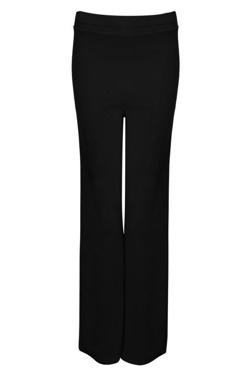 Textured Flared Trousers in Black 2