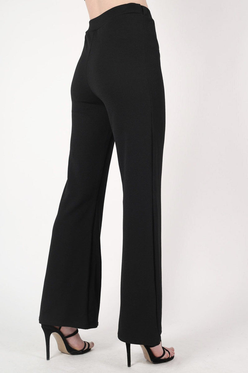 Textured Flared Trousers in Black 3