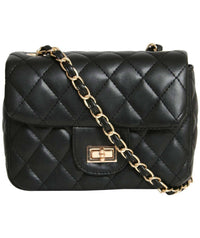 Quilted Cross Body Bag in Black 0