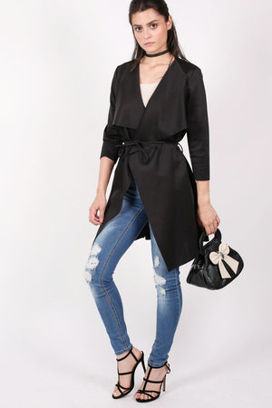 Waterfall Jacket in Black 0