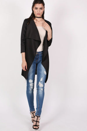 Waterfall Jacket in Black 1