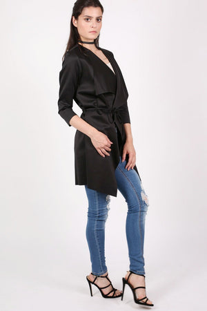 Waterfall Jacket in Black 4