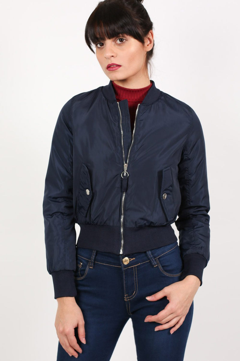 Bomber Jacket in Navy Blue 3