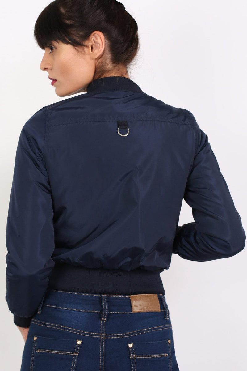 Bomber Jacket in Navy Blue 4
