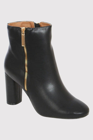 Mid Heel Ankle Boots in Black 2