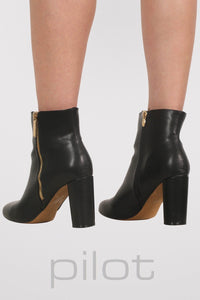 Mid Heel Ankle Boots in Black 4