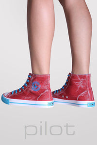 Ashlynn High Top Trainers in Red 4