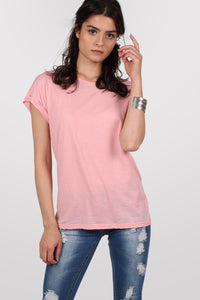 Burnout Oversized T-Shirt in Peach 0