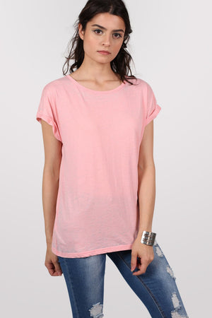 Burnout Oversized T-Shirt in Peach 1