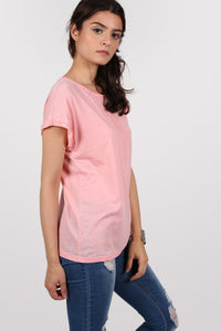 Burnout Oversized T-Shirt in Peach 2