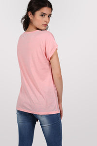 Burnout Oversized T-Shirt in Peach 3