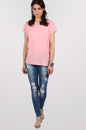 Burnout Oversized T-Shirt in Peach 4