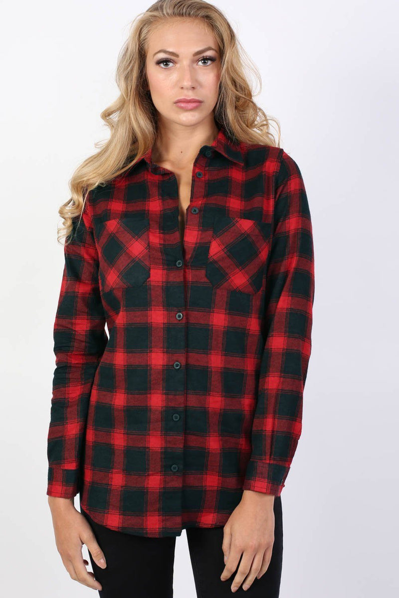 Brushed Check Shirt in Red 0