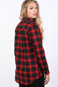 Brushed Check Shirt in Red 2