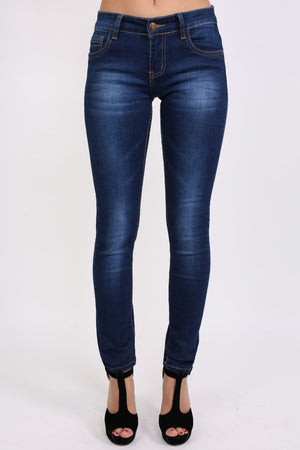 Dark Wash Skinny Jeans in Dark Denim 1