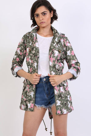 Lightweight Mac Camouflage Butterfly Festival Jacket in Khaki 0