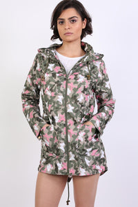 Lightweight Mac Camouflage Butterfly Festival Jacket in Khaki 1