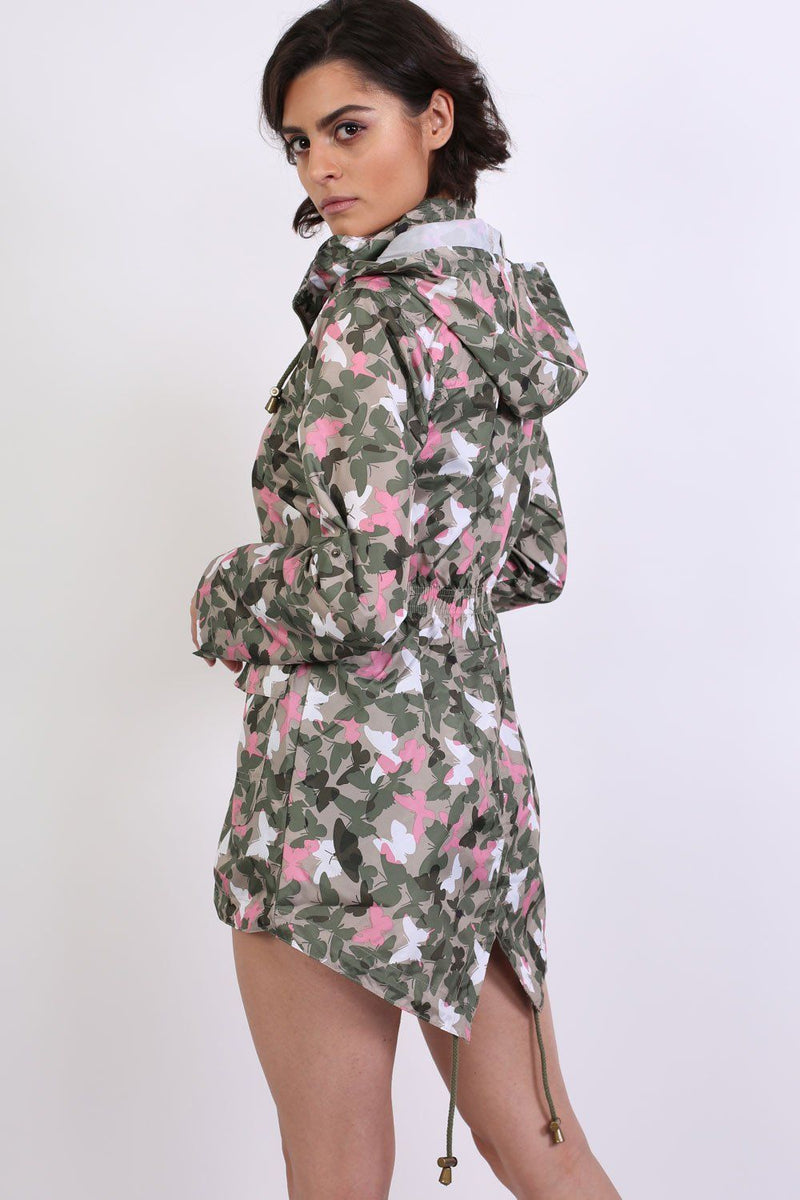 Lightweight Mac Camouflage Butterfly Festival Jacket in Khaki 2