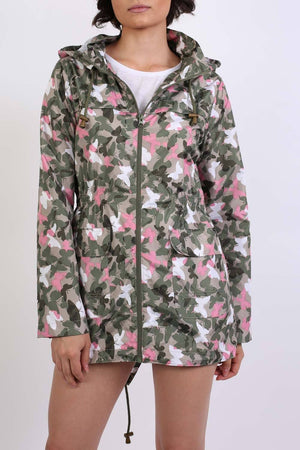 Lightweight Mac Camouflage Butterfly Festival Jacket in Khaki 5