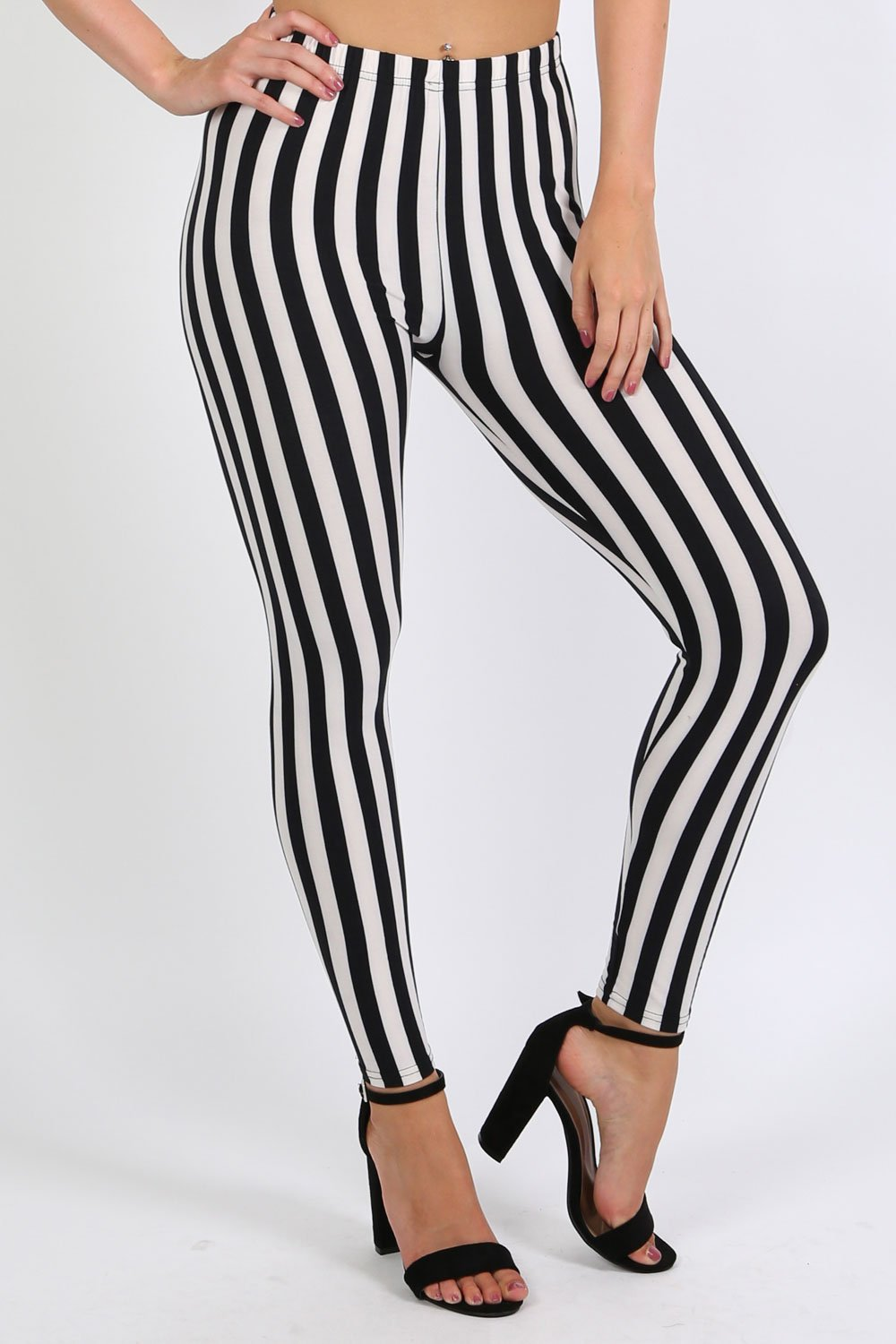 Stripe Detail Leggings in Black 0