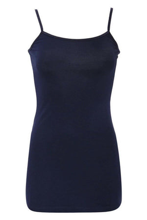 Adjustable Strap Vest Top in Navy Blue 2