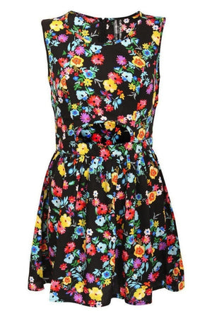 Cut Out Front Floral Dress in Multi Colour 2